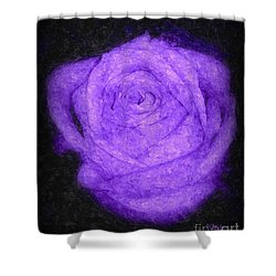 Sweet Lavender Rose Shower Curtain
