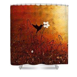 Sweet Nectar Shower Curtain by Carmen Guedez
