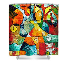 Sweet November Shower Curtain by Sally Trace