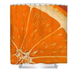 Sweet Orange Shower Curtain by Anastasiya Malakhova
