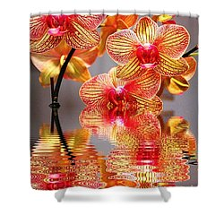 Sweet Orchid Reflection Shower Curtain