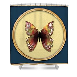 Sweet Pea Butterfly Shower Curtain