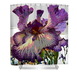 Sweet Purple Shower Curtain by Sally Simon
