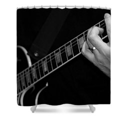 Shower Curtain featuring the photograph Sweet Sounds In Black And White by John Stuart Webbstock