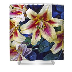 Sweet Summer Time  Shower Curtain by Juls Adams