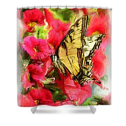 Sweet Swallowtail Shower Curtain