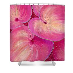 Sweet Tarts II Shower Curtain by Sandi Whetzel