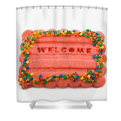 Sweet Welcome Mat Shower Curtain
