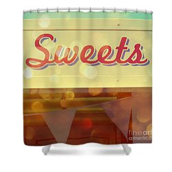 Sweets Shower Curtain by Valerie Reeves