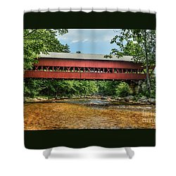 Shower Curtain featuring the photograph Swift River Covered Bridge Hew Hampshire by Debbie Green