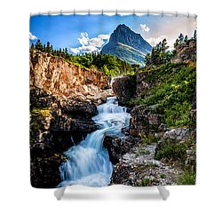 Swiftcurrent Falls Shower Curtain