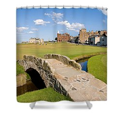 Swilcan Bridge On The 18th Hole At St Andrews Old Golf Course Scotland Shower Curtain by Unknown