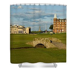 Swilken Bridge Shower Curtain by Jeremy Voisey