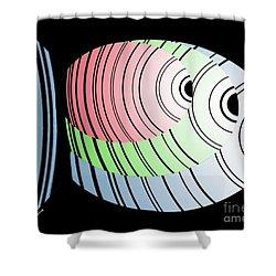 Swim Swim Swim Shower Curtain by Christine Fournier