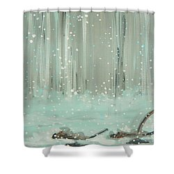 Swimming Leaves Shower Curtain