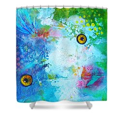 Swimming Shower Curtain by Nancy Merkle