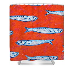Swimming Upstream Shower Curtain