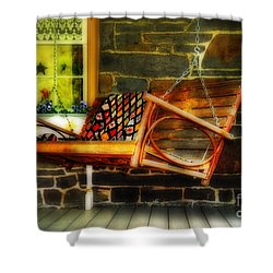 Swing Me Shower Curtain by Lois Bryan