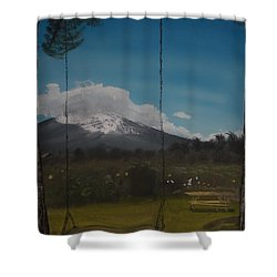 Swing On Mt Hoods Fruit Loop Shower Curtain