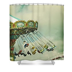 Swingin' - Santa Cruz Boardwalk Shower Curtain