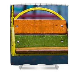 Swinging Rain - Featured 3 Shower Curtain