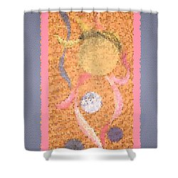 Swirl Body Bubble Person Dancing With Ribbons Twirling Shower Curtain by Kristie Hubler