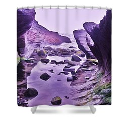 Shower Curtain featuring the photograph Swirl Rocks 2 by John Williams
