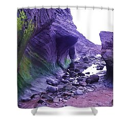 Shower Curtain featuring the photograph Swirl Rocks by John Williams