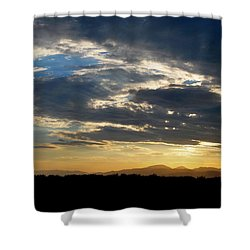 Swirl Sky Landscape Shower Curtain by Matt Harang
