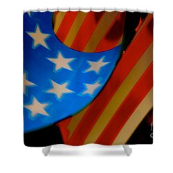 Shower Curtain featuring the photograph Swirled Stars by Cathy Dee Janes