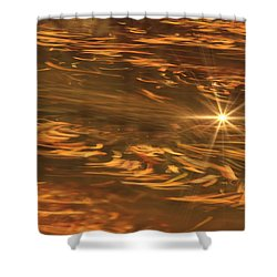 Shower Curtain featuring the photograph Swirling Autumn Leaves by Geraldine DeBoer