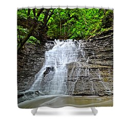 Swirling Falls Shower Curtain by Frozen in Time Fine Art Photography
