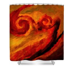 Swirling Hues Shower Curtain by Lourry Legarde