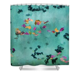 Swirling Leaves And Petals 1 Shower Curtain by Scott Campbell