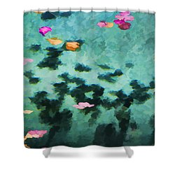 Swirling Leaves And Petals 4 Shower Curtain by Scott Campbell