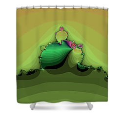Swirling Peaks Shower Curtain