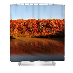 Swirling Reflections With Fall Colors Shower Curtain by Dan Friend