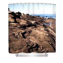 Swirling Rocks Shower Curtain