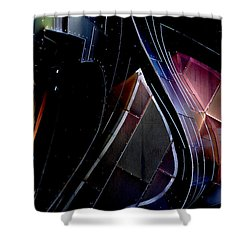 Swirling Shingles Shower Curtain
