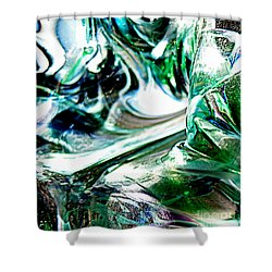Swirls Of Color And Light II Shower Curtain by Kitrina Arbuckle