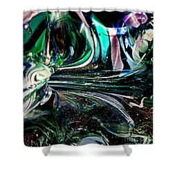Swirls Of Color And Light Shower Curtain by Kitrina Arbuckle