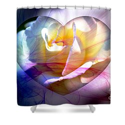Swirls Of Love And Hope Shower Curtain