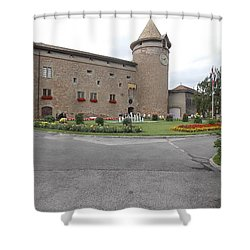 Swiss Castle Shower Curtain