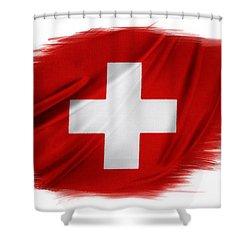 Swiss Flag Shower Curtain