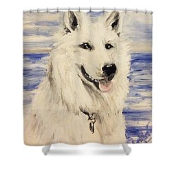 Swiss Shepherd Shower Curtain
