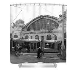 Swiss Railway Station Shower Curtain