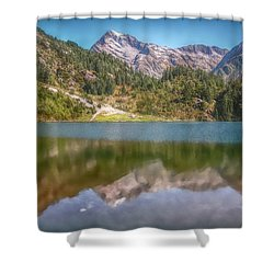 Swiss Tarn Shower Curtain