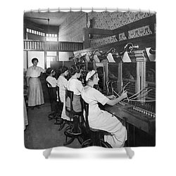 Switchboard Operators Shower Curtain by Underwood Archives
