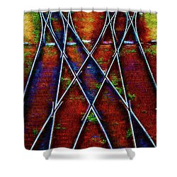 Center Diamond Shower Curtain