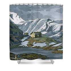 Switzerland Hospice Of St. Bernard Shower Curtain by Italian School